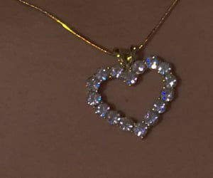 necklace, heart, and jewelry image