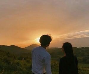 couple, sunset, and ulzzang image