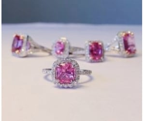 bling, pink, and diamonds image
