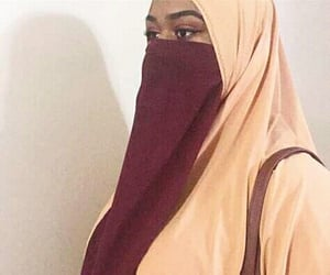 beauty, hijab, and face veil image