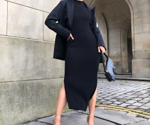 black, dress, and black clothes image