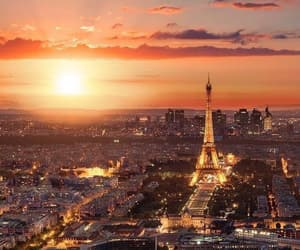 francia, sunset, and parís image