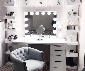 home, makeup, and room image