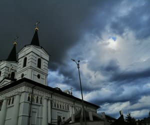 church, sky, and image image