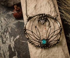 etsy, statement necklace, and women's jewelry image