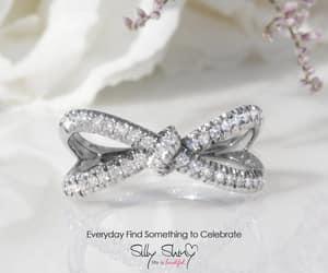 etsy, gold diamond ring, and diamond band image