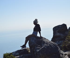 ocean, limitless, and table mountain image