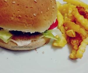 delicious, hamburger, and my camera image