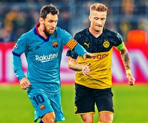 leo messi, signal iduna park, and champions league image