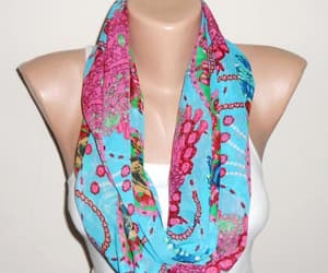 etsy, loop scarf, and fuchsia scarf image