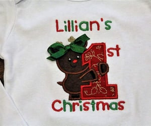 etsy, red and green, and christmas onesie image