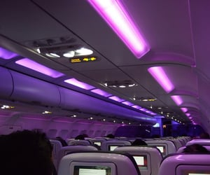 airplane, luxury, and travel image