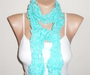 etsy, flower scarf, and handmade scarf image
