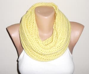 etsy, yellow scarf, and loop scarf image