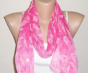 etsy, pink scarf, and candy pink image