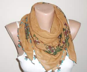 Cinnamon, cotton scarf, and etsy image