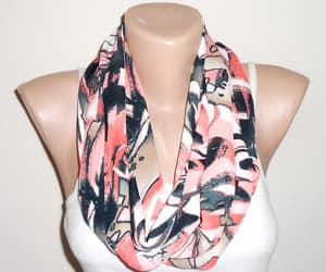 etsy, red scarf, and loop scarf image