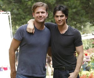 tvd, alaric, and damon image