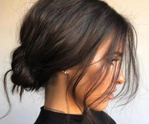 brown and hairstyle image