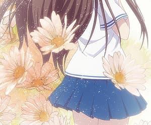 anime, flower, and furuba image