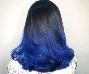 black, blue, and straight image