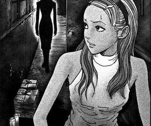 blackandwhite, creepy, and dark image