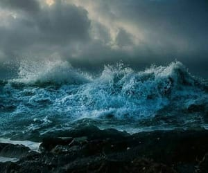 ocean, sea, and waves image