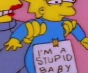 simpsons, stupid, and meme image
