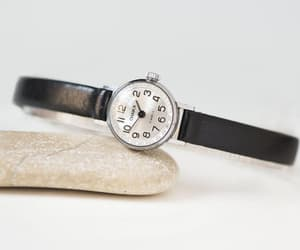 etsy, tiny woman watch, and silver women watch image