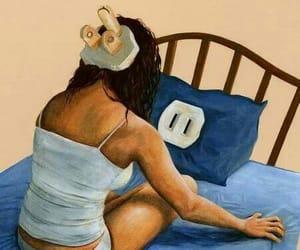 sleep, bed, and art image