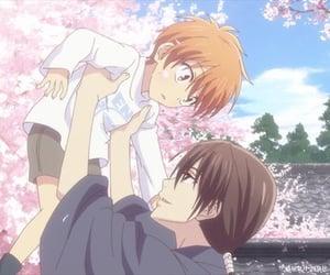 anime, flower, and sakura image