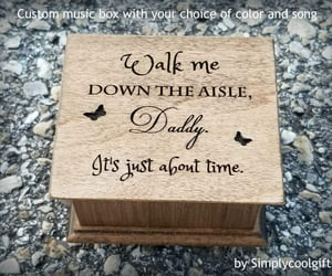 etsy, personalized box, and engraved music box image