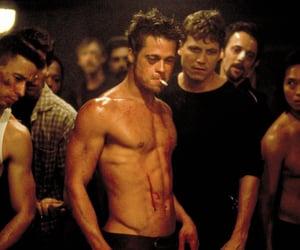 brad pitt, fight club, and film image