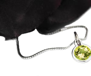 etsy, solitaire pendant, and yellow stone pendant image