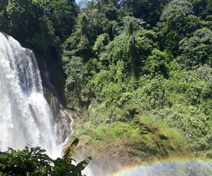 rainbow, waterfalls, and honduras image