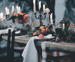 autumn, candle, and candlelight image