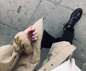 autumn, boots, and coat image