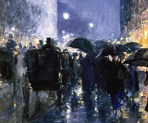 impressionism, night, and painting image