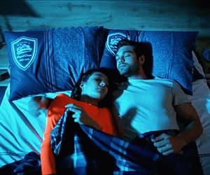 couple, gif, and sleep image