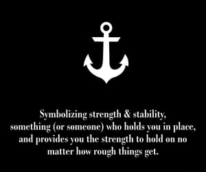 anchor, blackandwhite, and tat image
