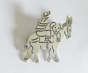 etsy, 925 silver mark, and pig image