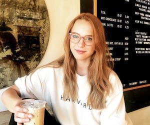 coffee, glasses, and hair image