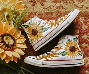 art, convers, and flowers image