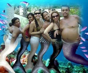 funny and mermaid image
