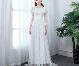 bridal, tulle wedding gown, and bridal gown image