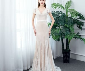 bridal, tulle wedding gown, and outdoor wedding dress image