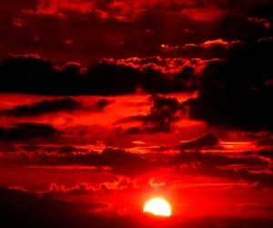 red and sun image