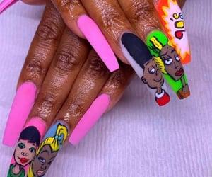 cartoon, fashion, and nails image