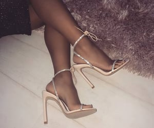 fashion, heels, and fluffy image