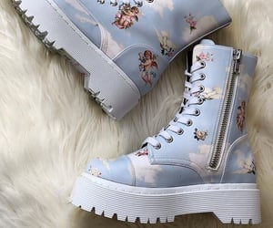 shoes, boots, and blue image